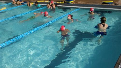 Swimmers with Swim Caps